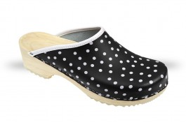 Women's Wooden clogs Anatomico - CD5 black K